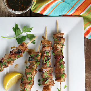 Stout Marinated Pork Kebobs