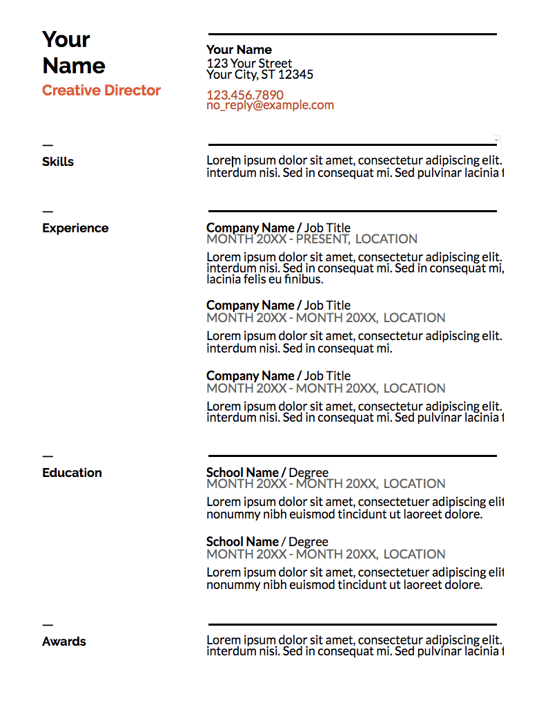 This Template Is A Solid Option If You Need A Resume For A Conservative  Role But Also Want To Showcase Some Personality.