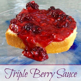 Triple Berry Sauce.