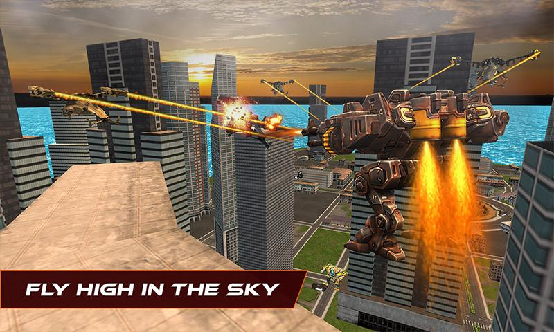 Futuristic Flying Robot Battle- screenshot