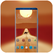 Theme for Mi Band 3 desert camel sun wallpaper icon