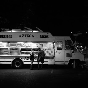 Truck 2 by Jay Reich - Transportation Automobiles ( contest, blue, truck, black and white, food,  )