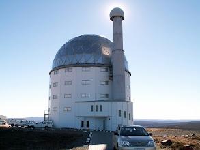 Photo: The SALT 11m telescope