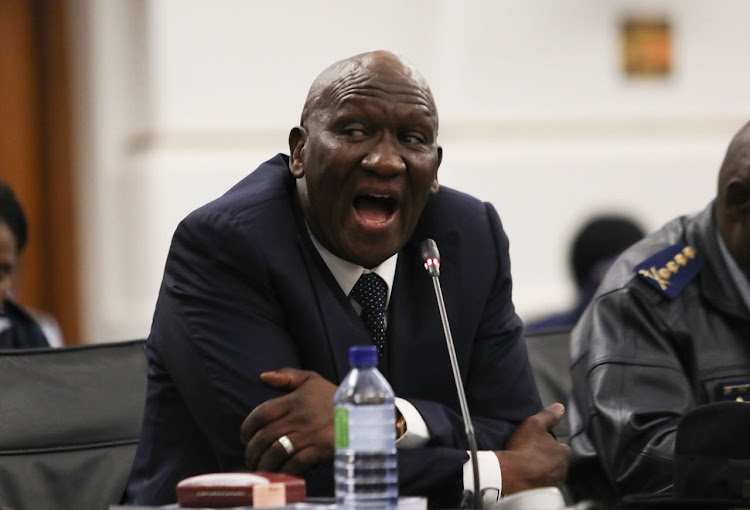 Police Minister Bheki Cele during the 2017/18 crime statistics briefing in parliament on September 11, 2018.