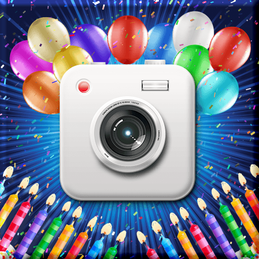 Birthday Cam Photo Collage Icon
