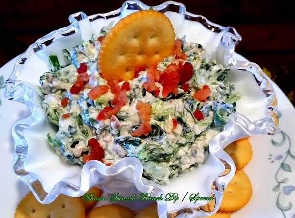 ~ Creamy Bacon, Spinach, Ranch - Spread/dip ~ Recipe