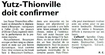 Photo: 01-04-2012 L'ASVB se rend à Besançon sans Lionel Grégoire