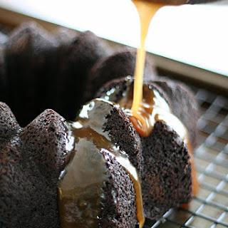 Chocolate Bundt Cake with Stout Caramel Sauce – Low Carb