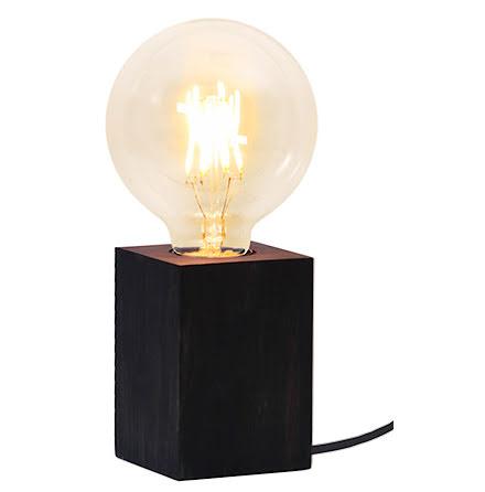 LYS Lampfot i trä E27 Svart