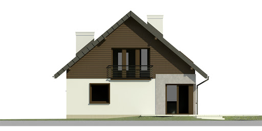 Dom przy Cyprysowej 7 - Elewacja tylna