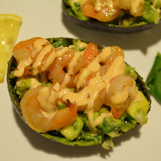 Garlic Shrimp, Mango and Avocado Salad