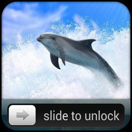 Dolphin Lock - Slide To Unlock 工具 LOGO-玩APPs
