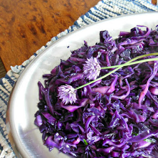 Stir Fried Red Cabbage with Ginger and Chives Recipe