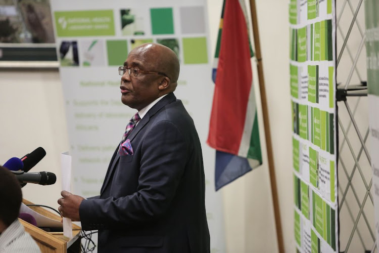 Health minister Aaron Motsoaledi during a press conference on the state of the listeriosis and the selling of alleged fake food in South Africa, on September 3, 2018, at the National Health Laboratory offices in Sandringham, Johannesburg.