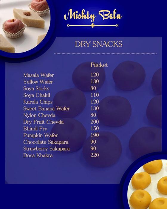 Mishty Bela menu 1