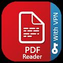 PDF Reader with Free VPN icon