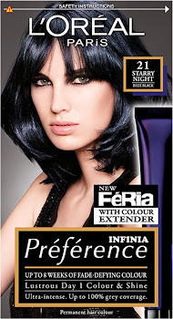 L'Oreal Preference Infinia Hair Dye - 21 Starry Night Blue Black