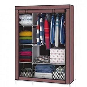 Dulap textil cu 3 compartimente pentru haine