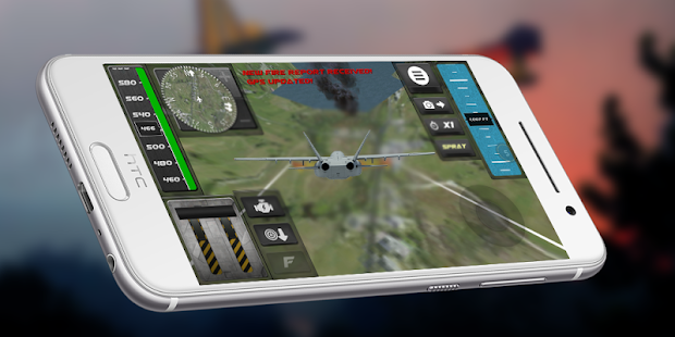 Fly F18 Jet Fighter Airplane Game Attack 3D Free - náhled