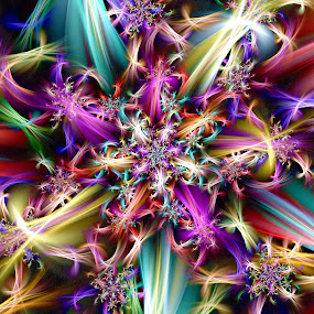 Starburst Spiral by Peggi Wolfe - Illustration Abstract & Patterns ( abstract, digital )