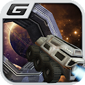 Jet Car Stunt Zone in space 3D icon