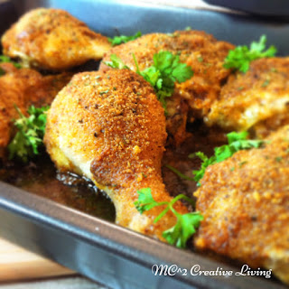 Spicy Mayo Mustard Crusted Baked Chicken