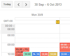 Photo: Nice, discrete academic week numbers for your calendar