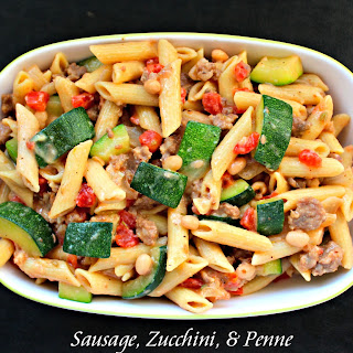 Sausage, Zucchini, and Penne