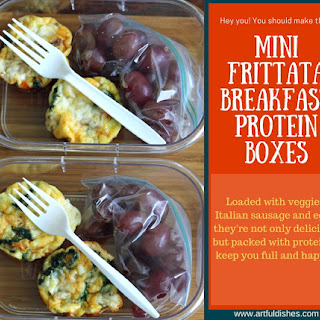 Mini Frittata Breakfast Protein Boxes.