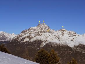 Photo: Panorama dal Colle Sampeyre 2283m. verso Nord da SX:Viso di Vallanta 3785m.-Monviso 3841m.-Cima delle Lobbie 3015m.-sotto il M.Reisasso 2707m.