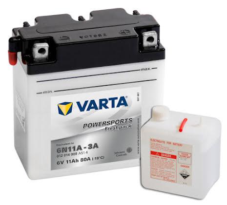 MC-batteri 12Ah 6N11-3A Varta Powersports lxbxh=122x61x135mm