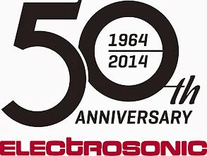 Photo: Electrosonic 50th Anniversary logo.