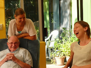 Photo: Aimee, Arly and Karuna at Karuna's birthday