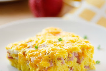 Baked Ham and Cheese Omelette