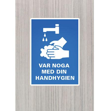 Dekal/skylt, Var noga med din handhygien, A4, 210x297mm
