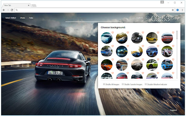 Porsche wallpaper hd cars new tab themes chrome web store - Chrome web store wallpaper ...