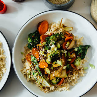 Sesame Vegetable Stir Fry.