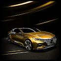 Gold Car Theme Luxury icon