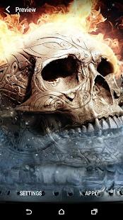 Blesk lebka Živá Tapeta - náhled