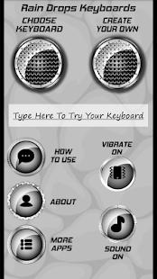 Dešťové kapky klávesnice - náhled