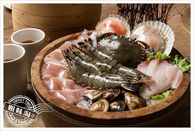 胡子麻辣鴛鴦火鍋海鮮拼盤
