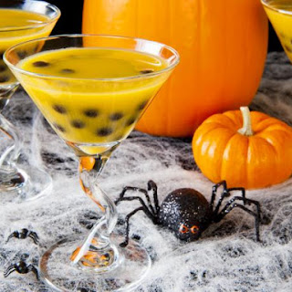 Jack-o'-Lantern Halloween Cocktail.