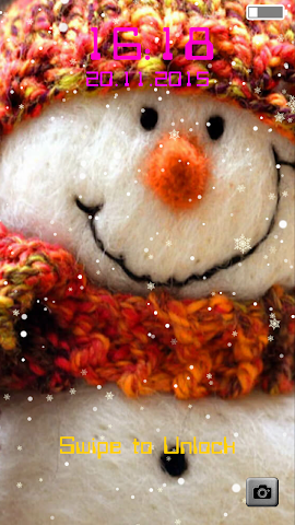 android Snowman Lock Screen Screenshot 4