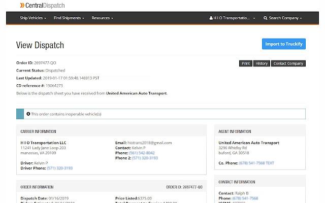 Truckify Importer