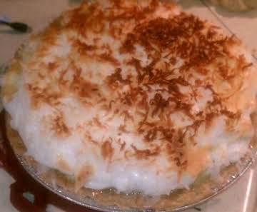 Ma's Coconut Meringue Pie