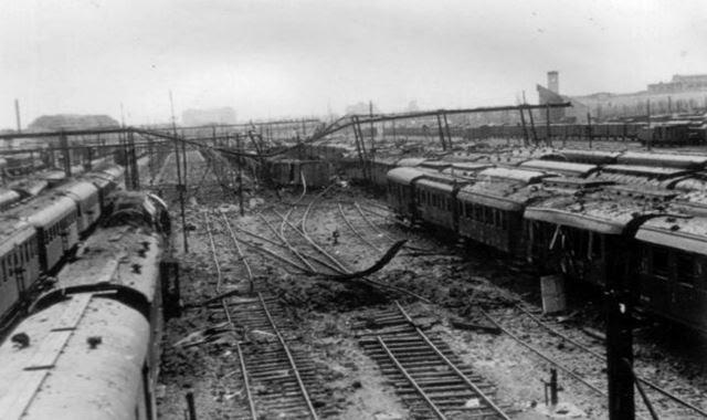 BUCHAREST NORTH TRAIN STATION IN WORLD WAR TWO