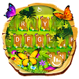 Spring Forest Butterfly Keyboard Theme