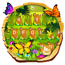 Spring Forest Butterfly Keyboard Theme file APK Free for PC, smart TV Download