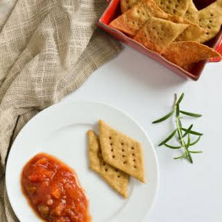 Olive Oil and Rosemary Sea Salt Crackers.