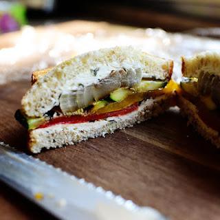 Grilled Veggie & Cream Cheese Sandwich.